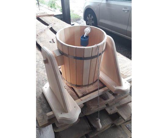 Обливное устройство из кедра для бани/сауны «Ливень» 10 л. Обливное ведро, фото , изображение 4