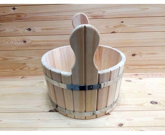 Шайка из кедра. Деревянный тазик для бани 10 л, фото , изображение 4