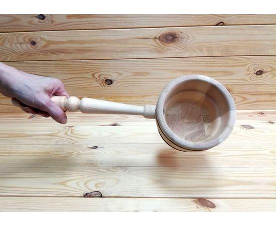 Ковш деревянный для бани 0,5 л, фото , изображение 4