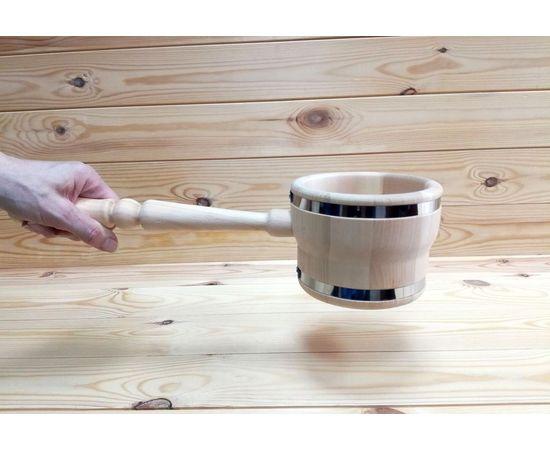 Ковш деревянный для бани 0,5 л, фото , изображение 5