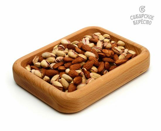 Тарелка деревянная прямоугольная из бука, фото , изображение 4