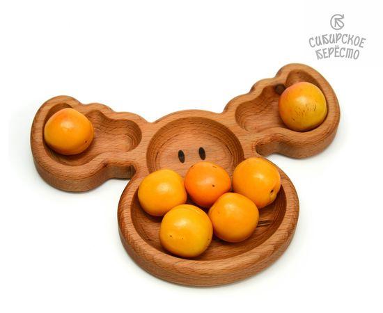 Тарелка деревянная с животным Лось, фото , изображение 4