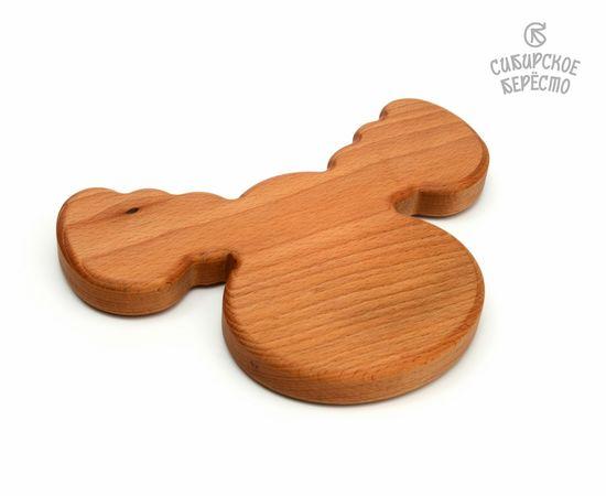 Тарелка деревянная с животным Лось, фото , изображение 3