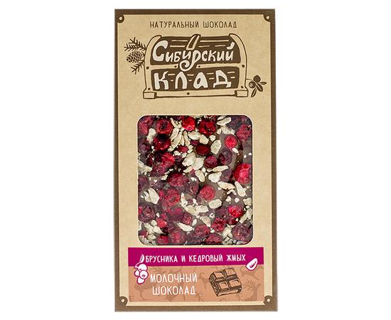 """Молочный шоколад """"Брусника и кедровый жмых"""", фото , изображение 2"""