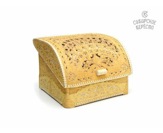 Хлебница из бересты Резная, фото , изображение 2