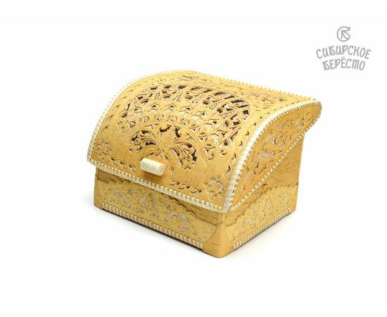 Хлебница из бересты Резная, фото , изображение 3