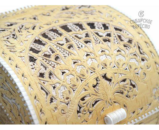 Хлебница из бересты Резная, фото , изображение 4