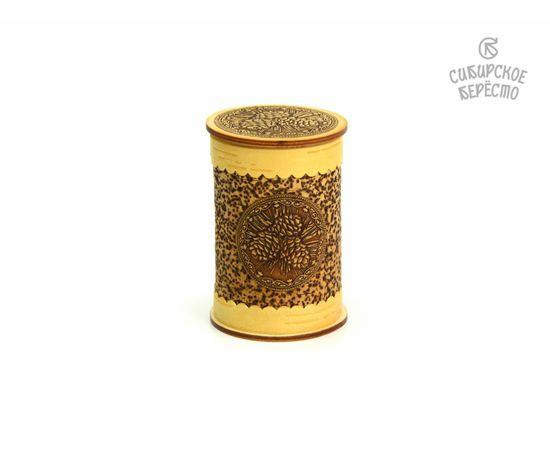 Набор стопок Шишки в берестяном футляре, фото , изображение 2
