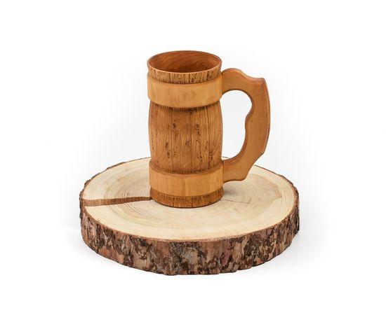Кружка деревянная для пива 0,7 л, фото