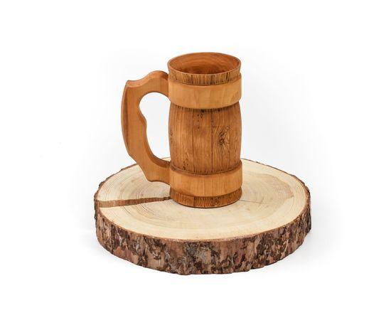 Кружка деревянная для пива 0,7 л, фото , изображение 2
