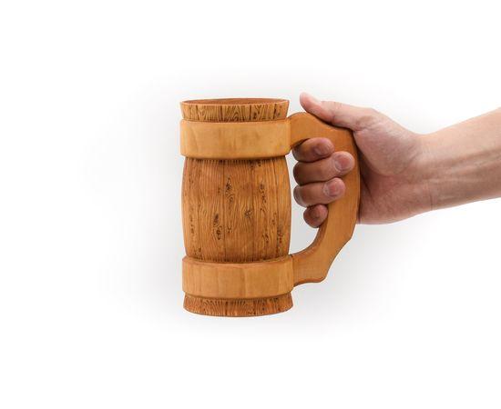 Кружка деревянная для пива 0,7 л, фото , изображение 3