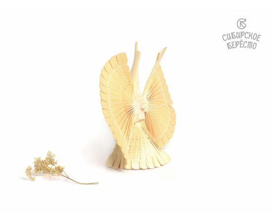Птица счастья из дерева большая 25 см. Щепная птица, фото , изображение 2