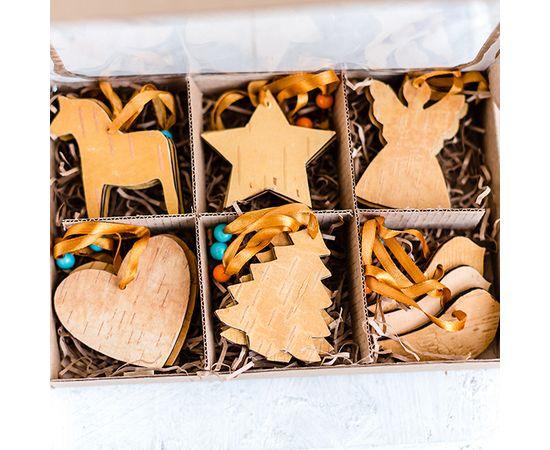 Набор игрушек из бересты 18 шт, фото , изображение 2