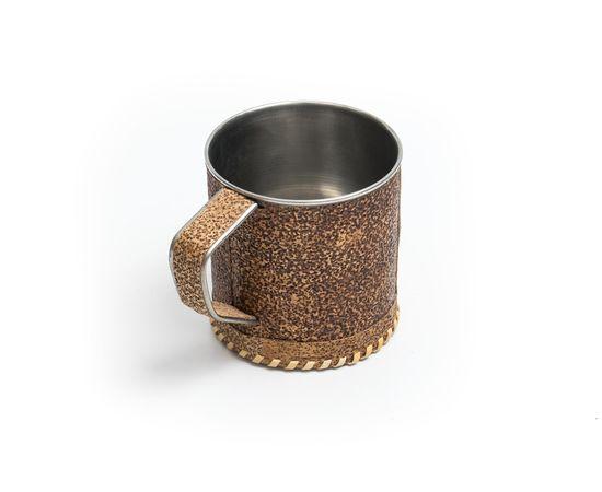 Кружка металлическая с берестой «Волки», фото , изображение 2