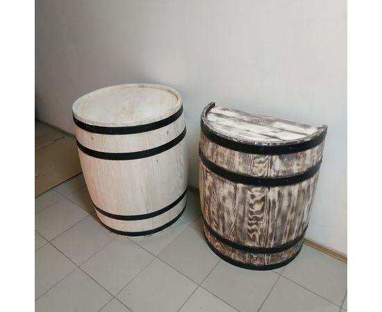 Бочка деревянная, декоративная для дачи, сада, магазина, интерьера 100-150-200 л, фото , изображение 3