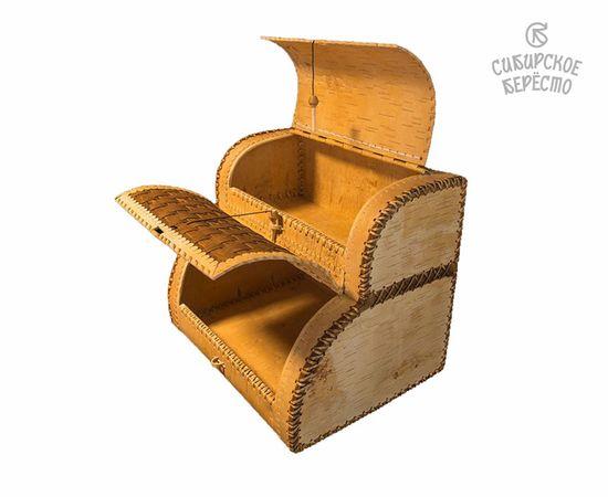 Хлебница двухэтажная из бересты, фото , изображение 2