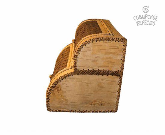 Хлебница двухэтажная из бересты, фото , изображение 3