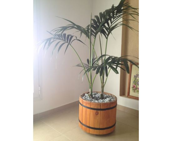 Кадка деревянная для растений. Кадка для пальмы. Кашпо для крупных растений, фото , изображение 7