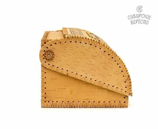 """Хлебница из бересты на 1 булку """"Подсолнух"""", фото , изображение 7"""