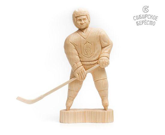 Статуэтка из дерева большая «Хоккеист», фото