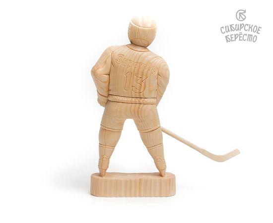 Статуэтка из дерева большая «Хоккеист», фото , изображение 2