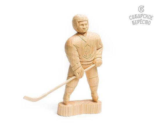 Статуэтка из дерева большая «Хоккеист», фото , изображение 4