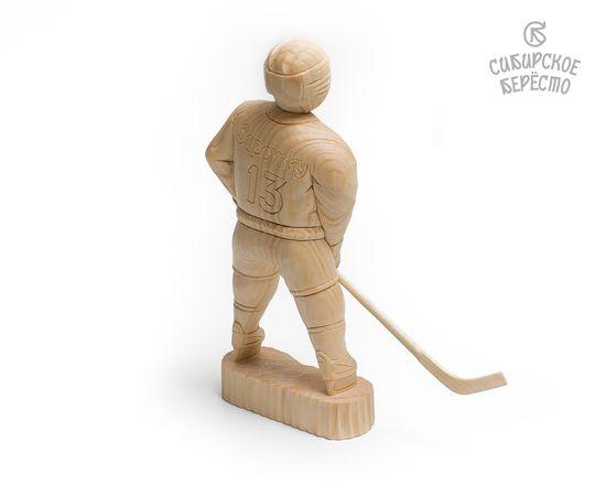 Статуэтка из дерева большая «Хоккеист», фото , изображение 5