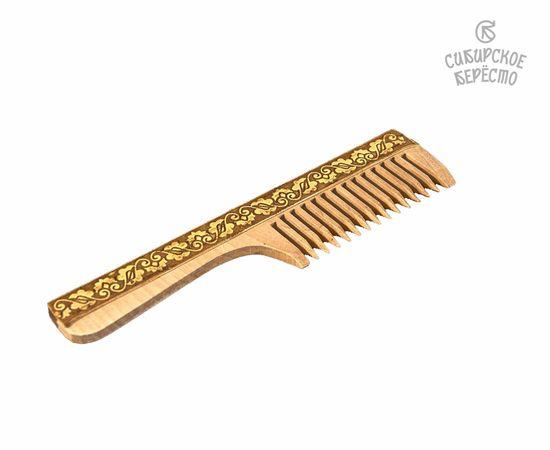 Расческа с ручкой декорированная берестой, фото