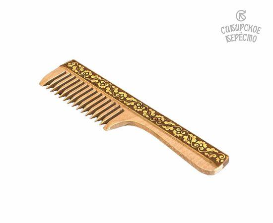 Расческа с ручкой декорированная берестой, фото , изображение 2