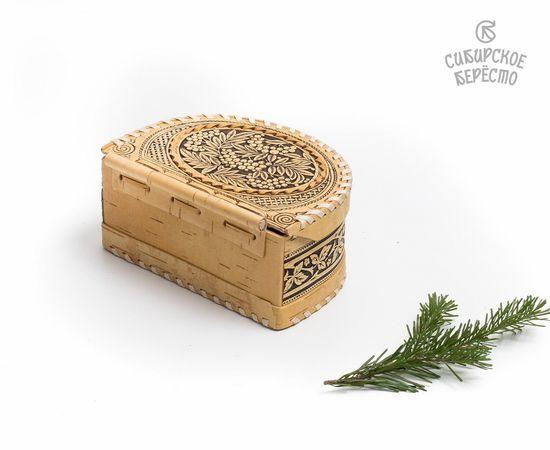 Шкатулка из бересты на шарнире «Рябина», фото , изображение 5