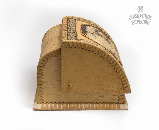 """Хлебница из бересты """"Самовар"""", фото , изображение 4"""