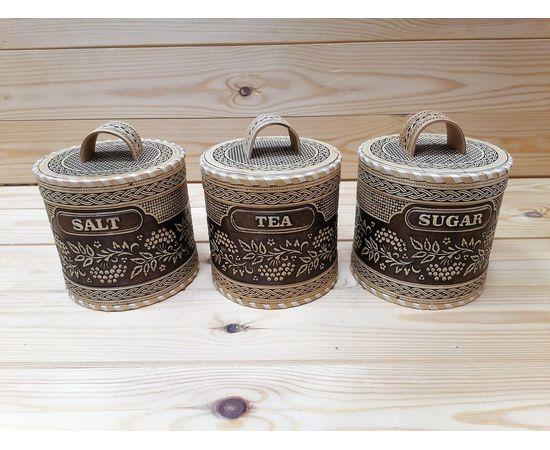 Набор туесов Рябина Salt Tea Sugar №3, фото