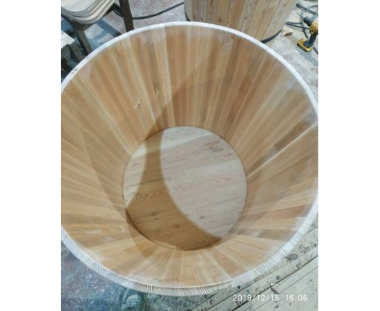 Кадка деревянная для растений. Кадка для пальмы. Кашпо для крупных растений, фото , изображение 6
