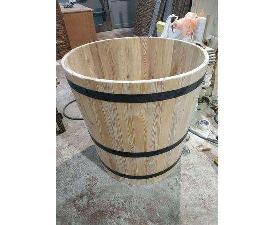 Кадка деревянная для растений. Кадка для пальмы. Кашпо для крупных растений, фото , изображение 5