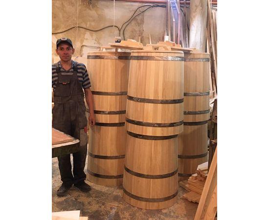 Кадка деревянная с крышкой 200 л. Бочка для воды, фото , изображение 5