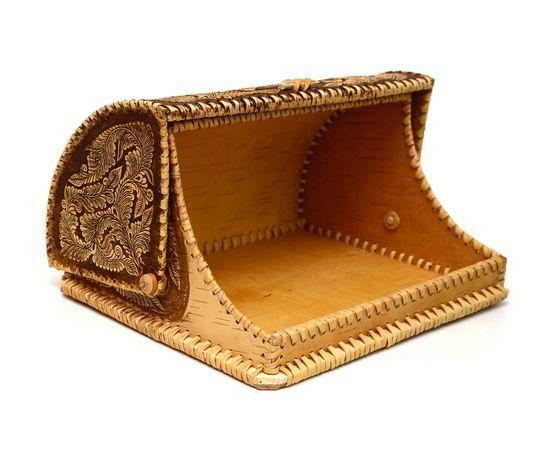 """Хлебница из бересты """"У самовара"""", фото , изображение 3"""