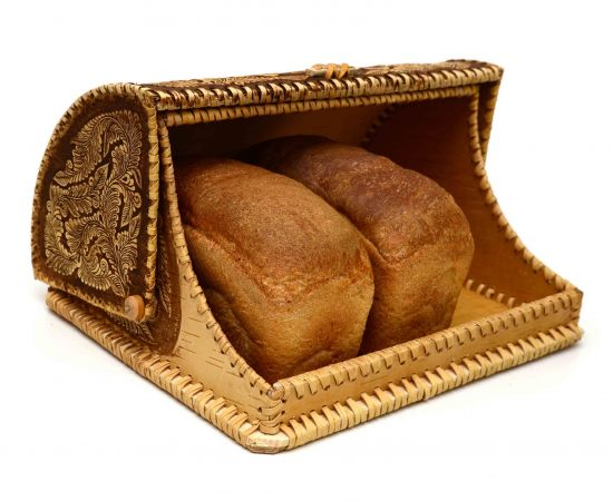 """Хлебница из бересты """"У самовара"""", фото , изображение 4"""