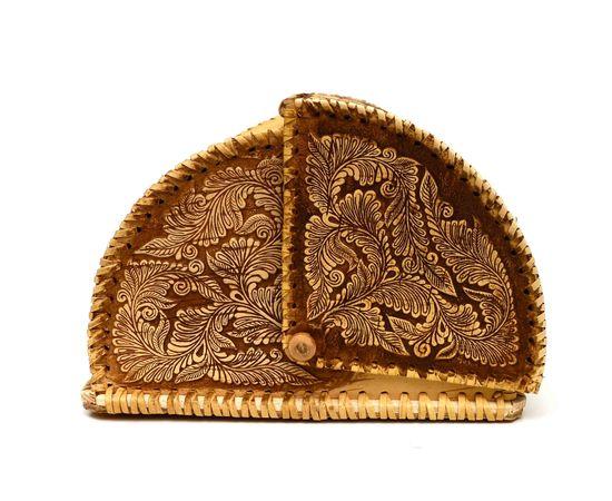 """Хлебница из бересты """"У самовара"""", фото , изображение 6"""
