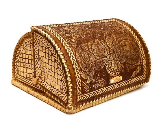"""Хлебница из бересты """"Мишки в малине"""", фото , изображение 2"""