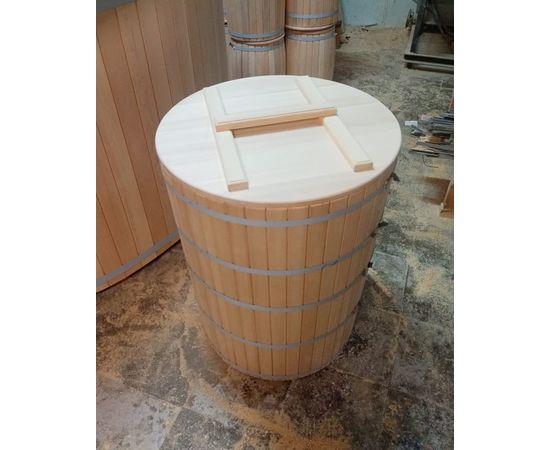Кадка из кедра с крышкой 200 л. Бочка для воды, фото