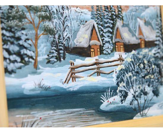 """Картина из бересты """"Зима"""" 33х23, фото , изображение 2"""