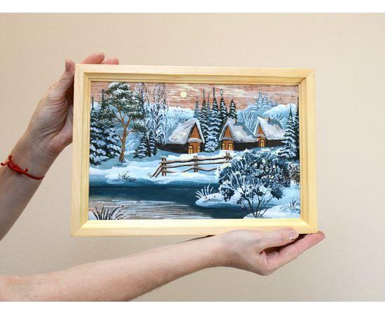 """Картина из бересты """"Зима"""" 33х23, фото , изображение 3"""