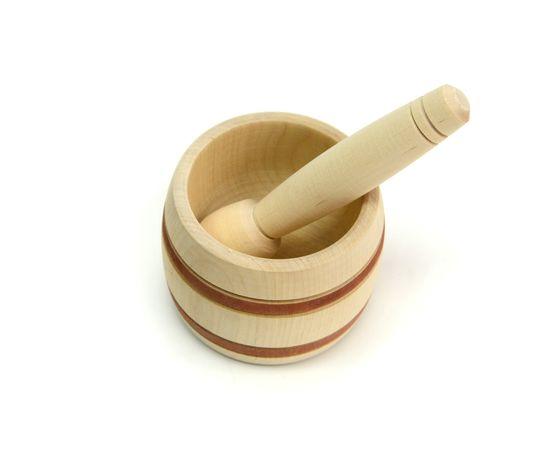 Ступка с пестиком деревянная большая, фото