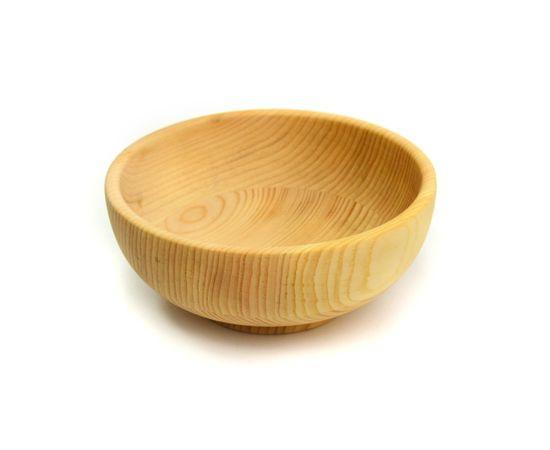 Тарелка деревянная глубокая D18 H8. Салатник, фото , изображение 3