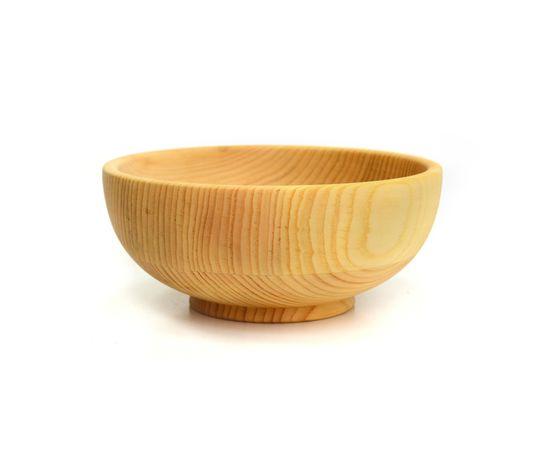 Тарелка деревянная глубокая D18 H8. Салатник, фото , изображение 2