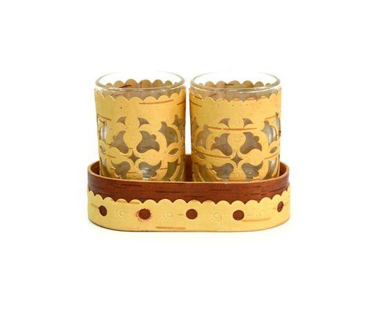 Набор декорированных стопок, фото