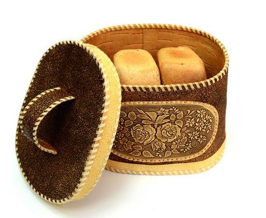"""Хлебница - короб из бересты """"Розы"""", фото , изображение 5"""