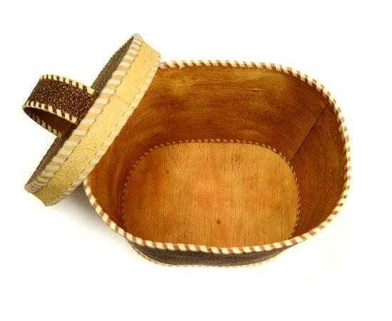 """Хлебница - короб из бересты """"Глухарь"""" с ручкой, фото , изображение 4"""