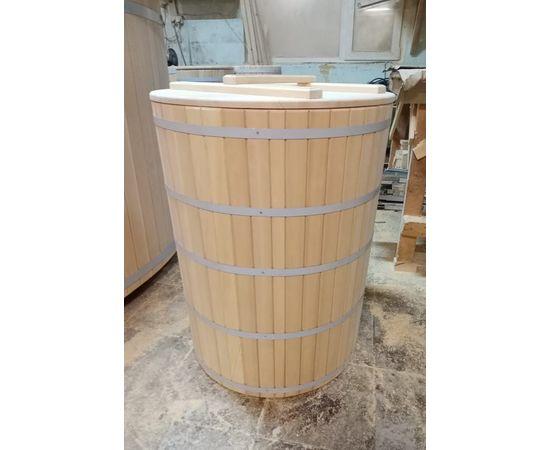 Кадка из кедра с крышкой 200 л. Бочка для воды, фото , изображение 2