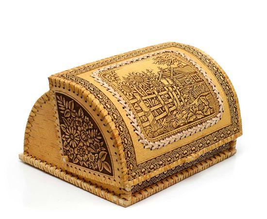 Хлебница из бересты «Деревенские подсолнухи», фото , изображение 2